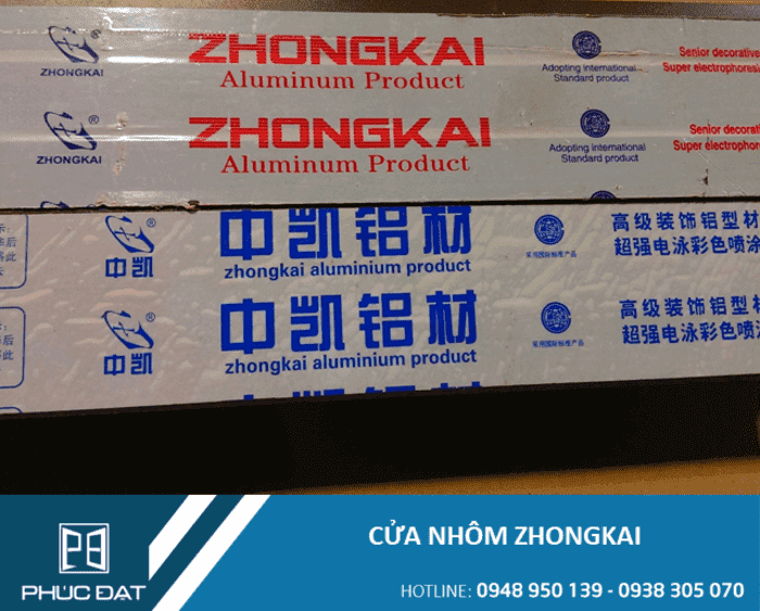 Báo giá Cửa nhôm Zhongkai