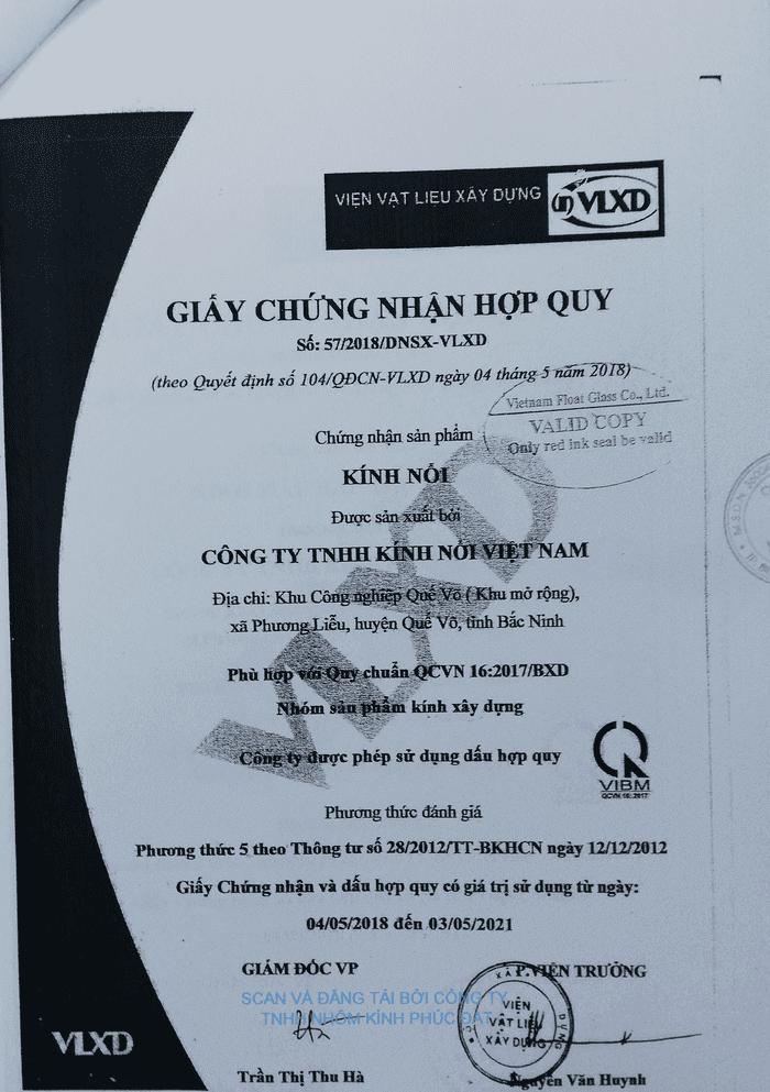 Chứng nhận hợp quy Kính nổi - QCVN 16:2017/BXD