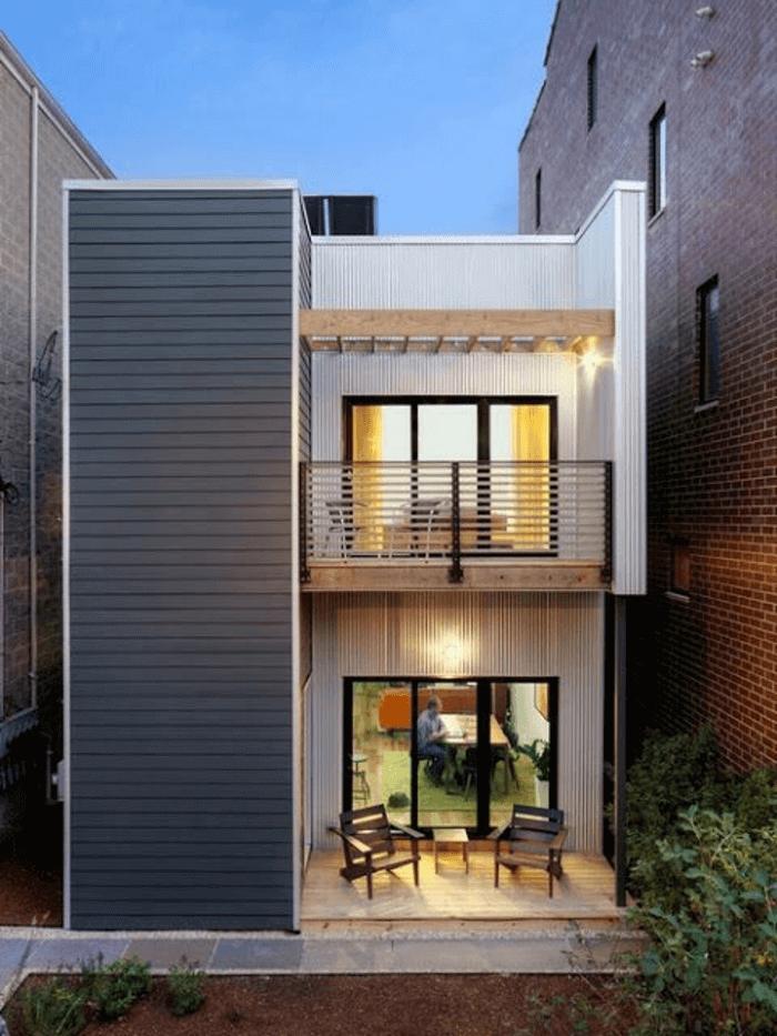 Mẫu 27: Mẫu nhà 2 tầng có sân vườn phía trước đẹp nhất năm 2019