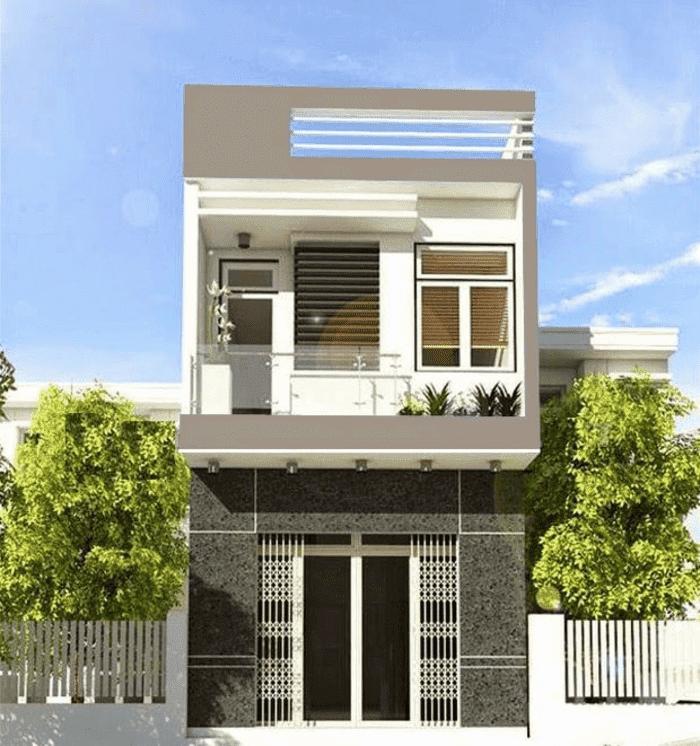 Mẫu 35: Mẫu nhà 2 tầng đơn giản, phù hợp với thị hiếu và nhu cầu của mọi gia đình Mẫu 36: Mẫu nhà 2 tầng đẹp, hiện đại nhất năm 2019