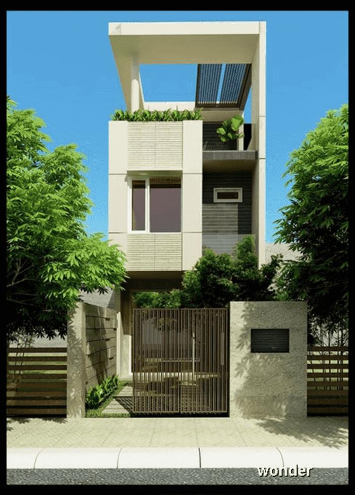 Mẫu 38: Mẫu nhà 2 tầng trần mặt phố đẹp nhất năm 2019