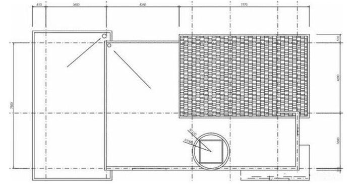 Mặt bằng tầng mái Mẫu thiết kế nhà 2 tầng gồm 4 phòng ngủ