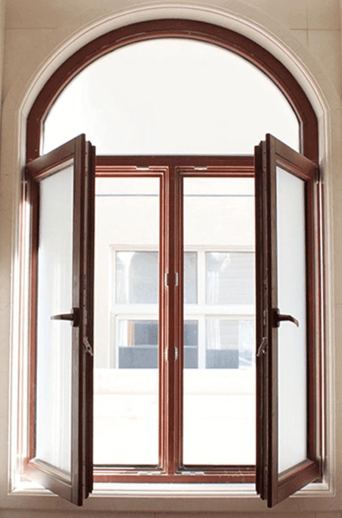 Cửa sổ mở quay Xingfa nhôm giả gỗ