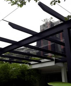 Mái che sảnh nhà mẫu các dự án bất động sản, nhà ở