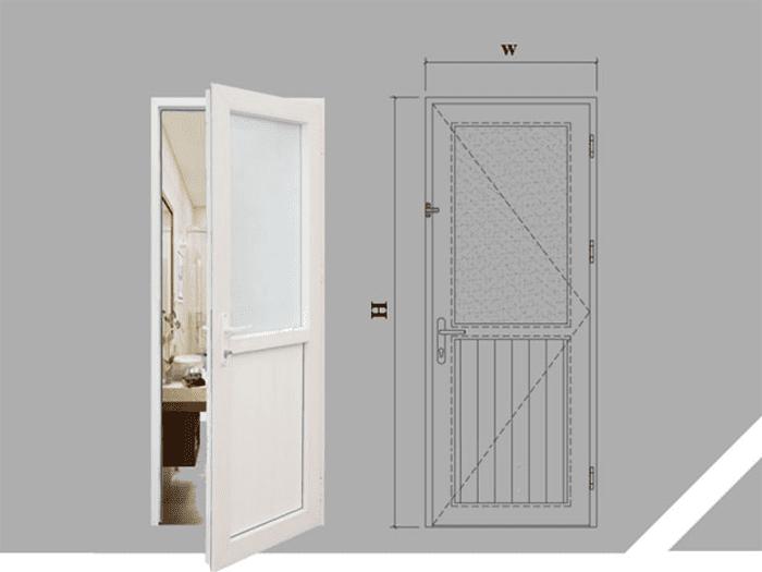 Kích thước cửa chuẩn dựa theo 2 số đo chiều rộng và chiều cao lọt lòng (thông thủy) phù hợp với số đo trong thước lỗ ban phong thủy.