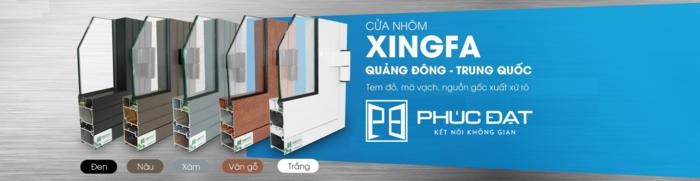 5 màu sơn tĩnh điện của cửa nhôm Xingfa nhập khẩu.