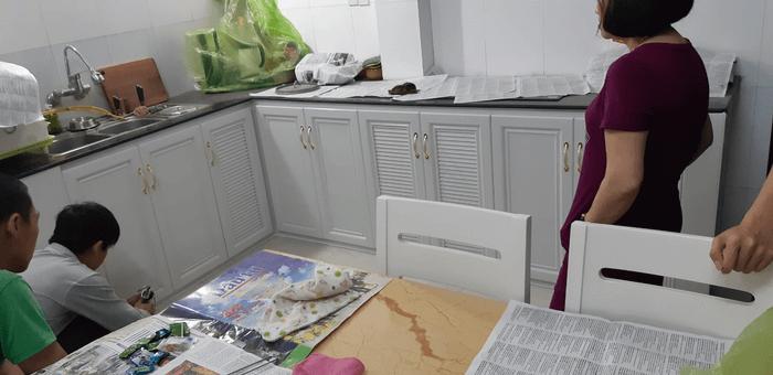 Tủ bếp nhỏ hiện đại