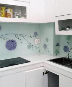 Tranh kính 3D ốp bếp in họa tiết