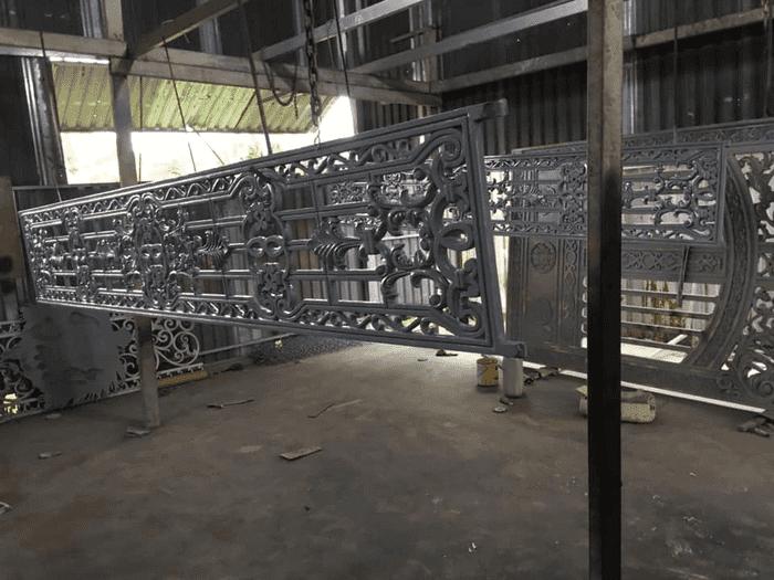 Giai đoạn phủ sơn tĩnh điện cửa nhôm đúc hợp kim