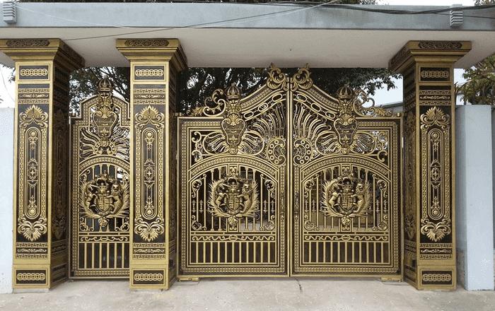 Cổng nhôm đúc hợp kim được đúc dựa theo khuôn tạo hình theo nhu cầu của khách hàng