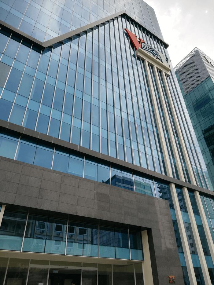 Vách kính ngoài trời tòa nhà VOV Building.