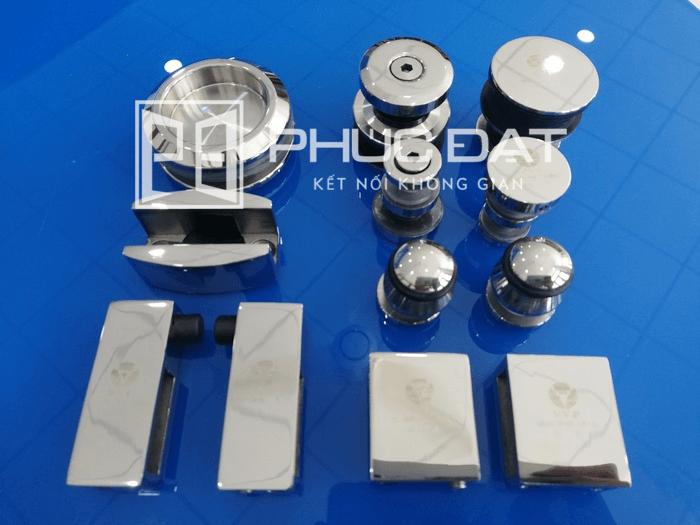 Phụ kiện VVP cửa lùa treo ray inox hộp 10x30 - Phụ kiện cửa trượt treo