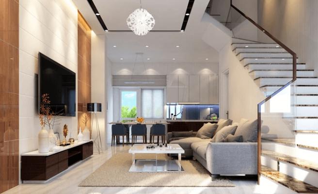 Top 11+ mẫu phòng khách đẹp có cầu thang HOT nhất 2021 nhìn là mê