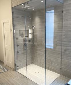 Vách kính bồn tắm đứng.