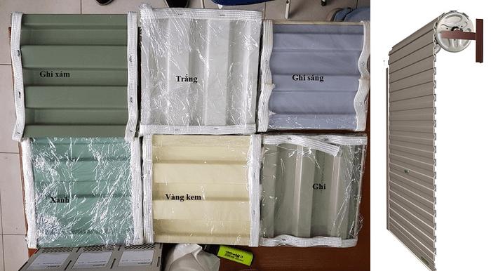 6 màu sơn của cửa cuốn tấm liền Onedoor.