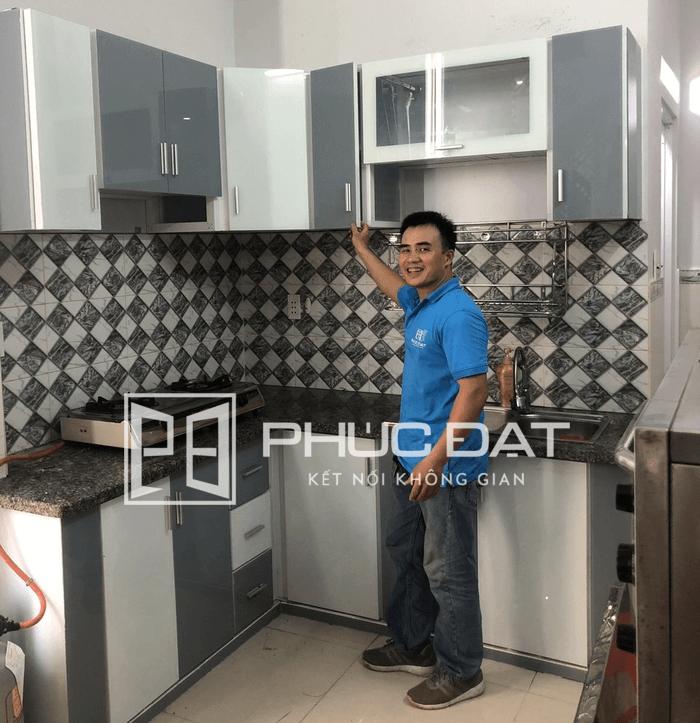 Lắp đặt tủ bếp nhôm TpHCM.