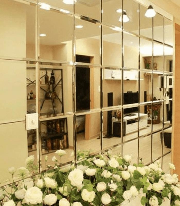 Gương ốp tường trang trí trong nhà