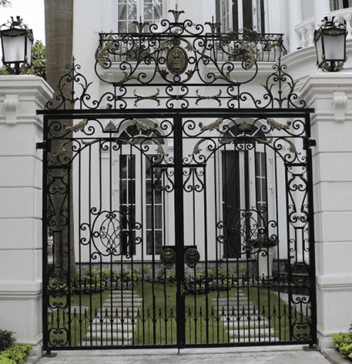 Trụ cổng đơn giản mà đẹp.
