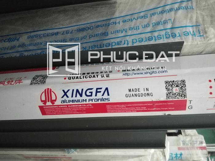 Thanh nhôm Xingfa nhập khẩu chính hãng tại kho nhôm của Phúc Đạt.