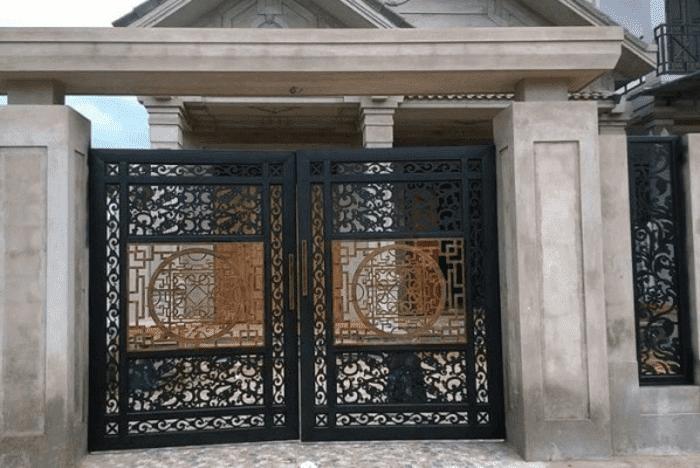 Mẫu cổng sắt đẹp và ấn tượng sử dụng cho biệt thự.