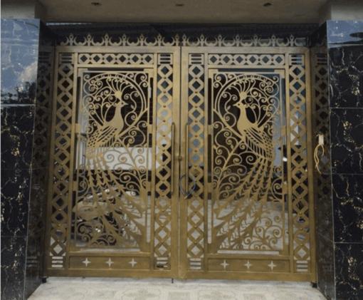 19+ Mẫu sơn cửa sắt màu vàng đồng, cổng màu vàng đồng đẹp nhất