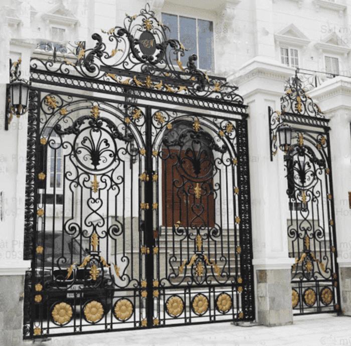 Cổng sắt nghệ thuật đẹp.
