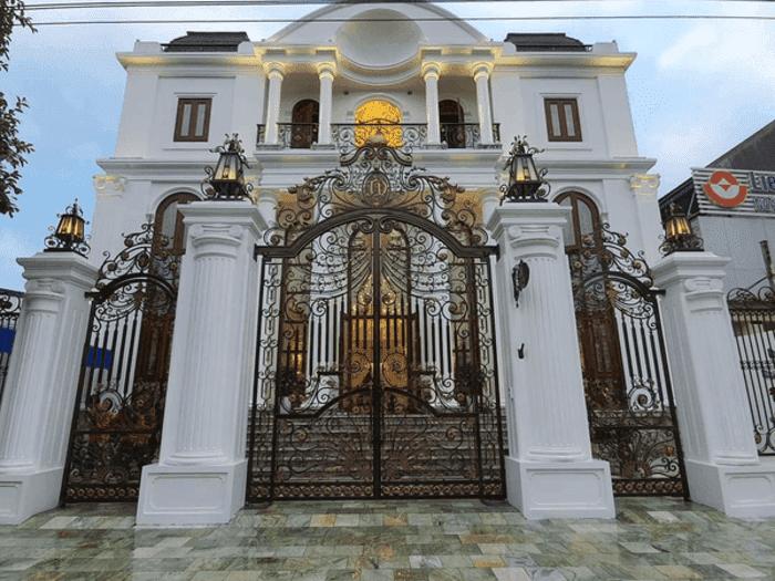 Trụ cổng biệt thự đẹp.