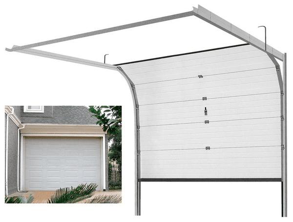 Dạng cửa trượt ray vuông được là dạng cửa cuốn trượt trần được sử dụng nhiều nhất.
