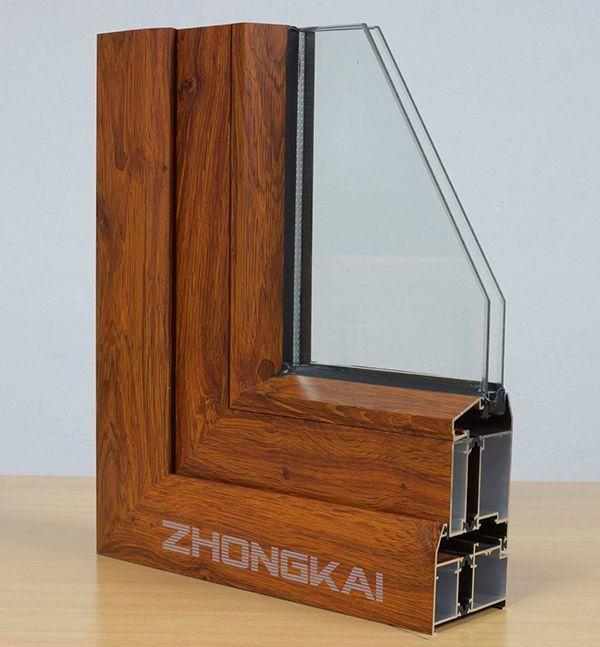 Cửa nhôm hệ Zhongkai kính hộp.