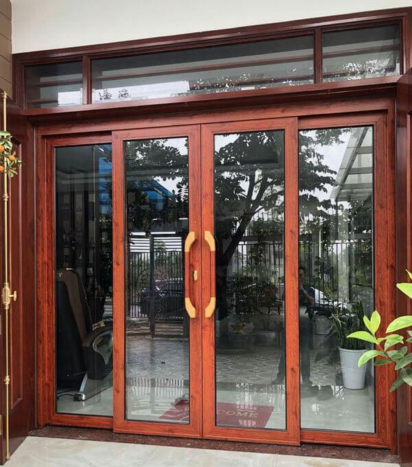 Cửa Zhongkai AGS100 trượt quay vân gỗ.