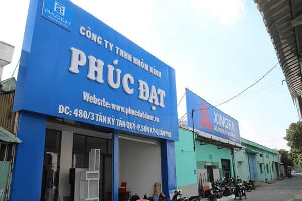 Showroom cửa cuốn Phúc Đạt Door tại quận Tân Phú, TpHCM.