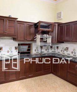 Top 29+ mẫu tủ bếp nhôm kính vân gỗ đẹp báo giá lắp đặt ưu đãi 2021