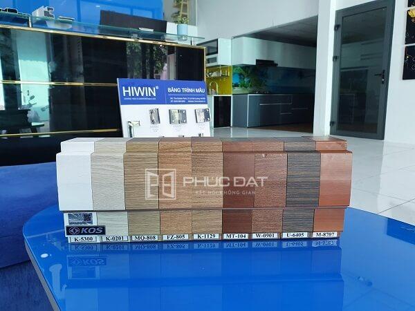 Các màu cửa nhựa giả gỗ ABS tại showroom Phúc Đạt.