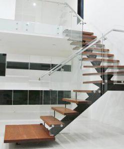 Mẫu cầu thang gác lửng đẹp cho nhà hiện đại.