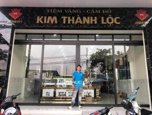 Công trình cửa trượt quay 4 cánh tiệm vàng Kim Thành Lộc - Bình Chánh, TPHCM