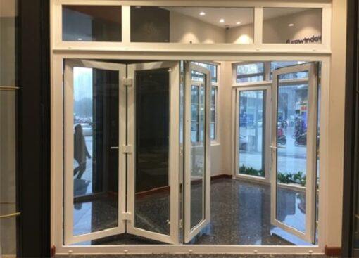 Cửa nhựa xếp trượt, cửa đi xếp trượt nhựa lõi thép mẫu đẹp giá rẻ 2021