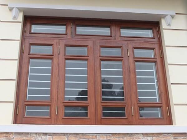 Mẫu cửa sổ gỗ kính đẹp 4 cánh.