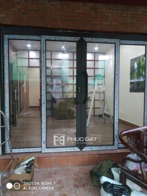 Công trình cửa nhôm cao cấp lắp đặt tại Hưng Long, Bình Chánh