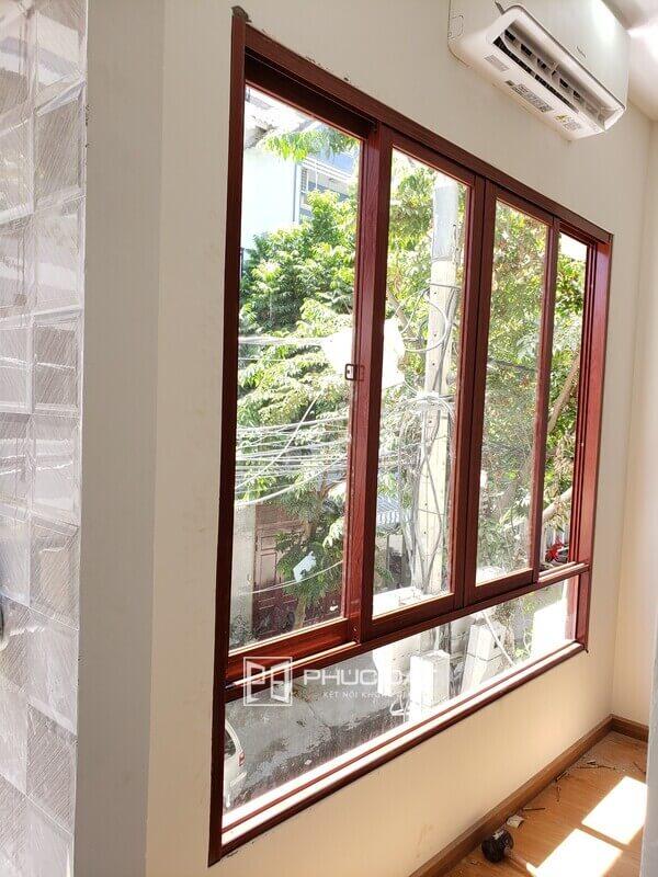 Cửa sổ nhôm lùa Namsung 4 cánh.