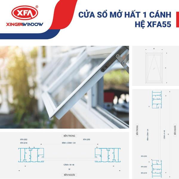 Cửa nhôm Xingfa Window hệ 55.