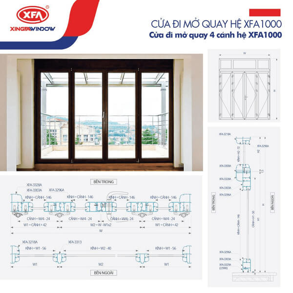 Nhôm Xingfa Window hệ 1000.
