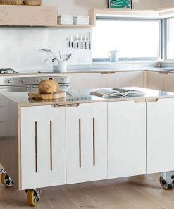 9+ Thiết kế tủ bếp di động, tủ bếp rời nhỏ gọn tích hợp nhiều tiện ích