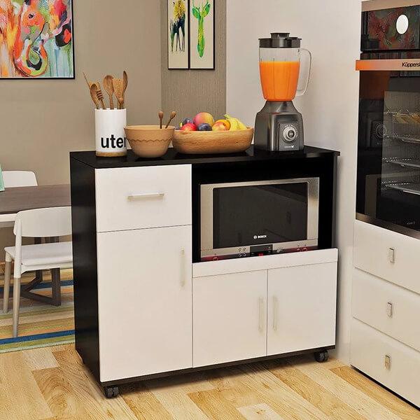 Tủ bếp nhỏ gọn giá rẻ di động và linh hoạt.