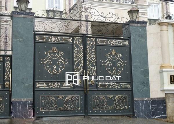 Trụ cổng đẹp không mái.