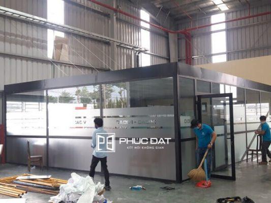 Công trình nhôm kính Xingfa văn phòng Cadivi