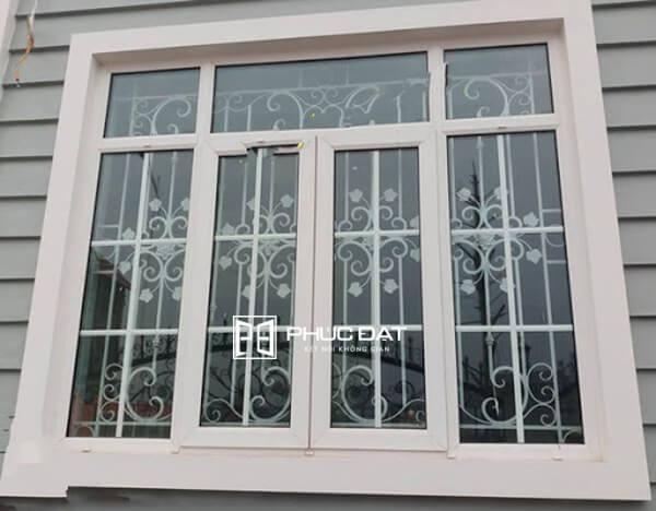 Mẫu cửa sổ sắt 4 cánh đẹp.