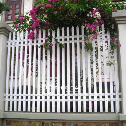 Màu sơn hàng rào đẹp màu trắng.