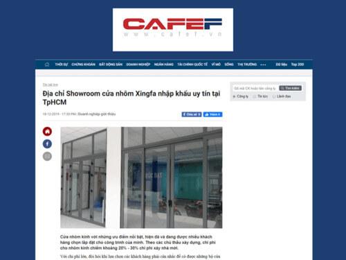 Báo CafeF.vn - Địa chỉ Showroom cửa nhôm Xingfa nhập khẩu uy tín tại TpHCM
